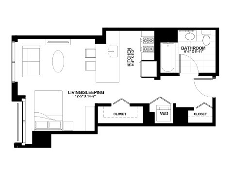 Moment studio floor plan